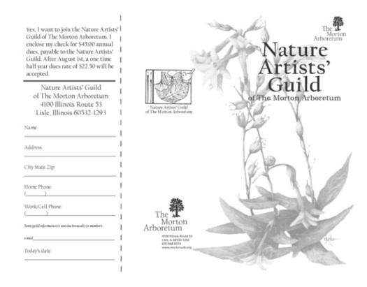 Nature Artists' Guild Membership Brochure Page 1