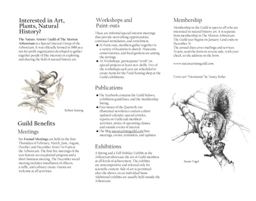 Nature Artists' Guild Membership Brochure Page 2