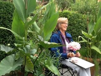 Mary Jo Sinclair at Catherine Donovan's Garden