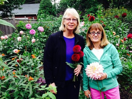Suzanne Wegener and Catherine Donovan at Catherine Donovan's Garden