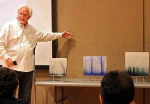 Glass Artist Paul Messink at 2014 Nature Artists' Guild Presentation 1