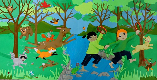 "Artwork for ""Celebrating our Green Planet"" from ""I See Something Green"", copyright Gail Diedrichsen"