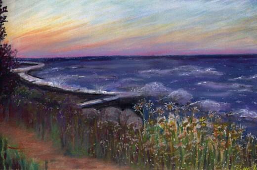 Sunset, copyright Patty Koenigsaecker