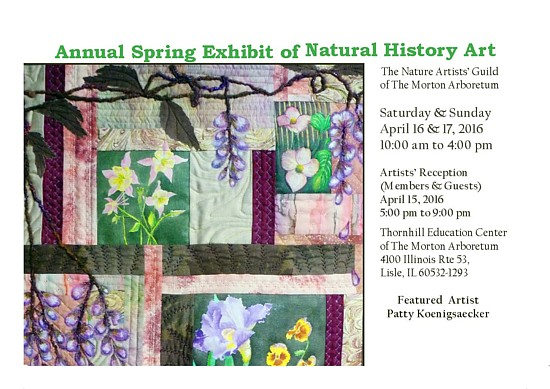 Nature Artists' Guild Exhibit Postcard Spring 2016