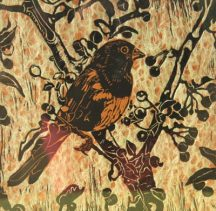 "Carol Cooley's print using ""shinkolei"" process"