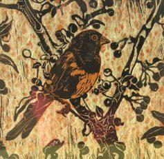 "Carol Cooley's print using ""shinkolei"" process"