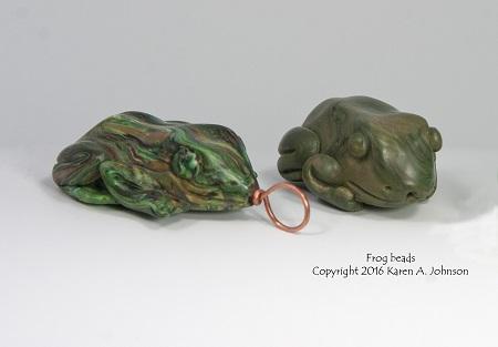 Frog Beads, copyright KA Johnson