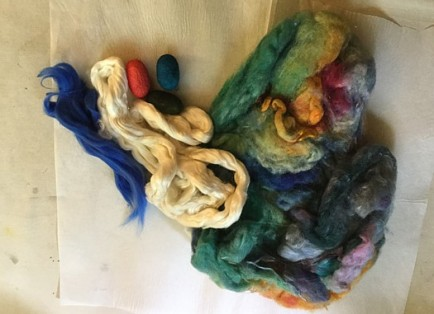 Silk fibers used by Sharon Malec to create silk paper