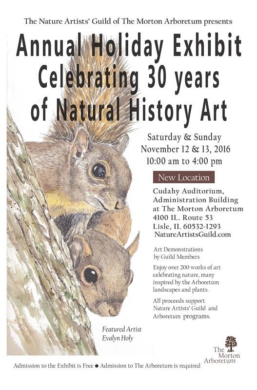 2016 Nature Artists' Guild Exhibit Poster. Artwork copyrighted by Evalyn Holy, poster design by Evelyn Grala.