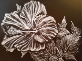 Scratchboard artwork, copyright Jill Adzia