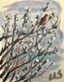 2020 Spring Nature Artists' Guild Encounter, oil sketch, copyright Linda Skisak