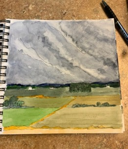 2020 Nature Artists' Guild cloud study 3, copyright Vicki Liszewski