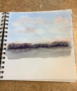 2020 Nature Artists' Guild cloud study, copyright Vicki Liszewski