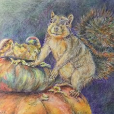 Cookie Jar, colored pencil, copyright Bernadette Hanacek
