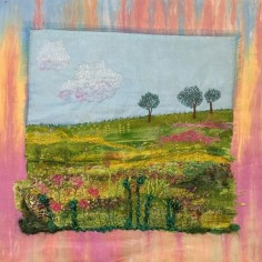 Sheltered Inside So Long Forgot What Nature Looks Like, Art Quilt, copyright Patty Koenigsaecker