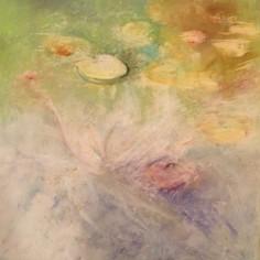 Water Lilies #1, pastel, copyright Carol Jean Rogalski