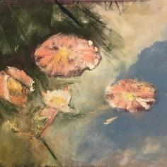 Water Lilies #2, pastel, copyright Carol Jean Rogalski