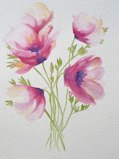 Following online video of Emma Lefebvre's Abstract Poppies, copyright Dorothy Duffala