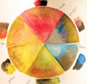 Color wheel study, using complements, Carol Cooley
